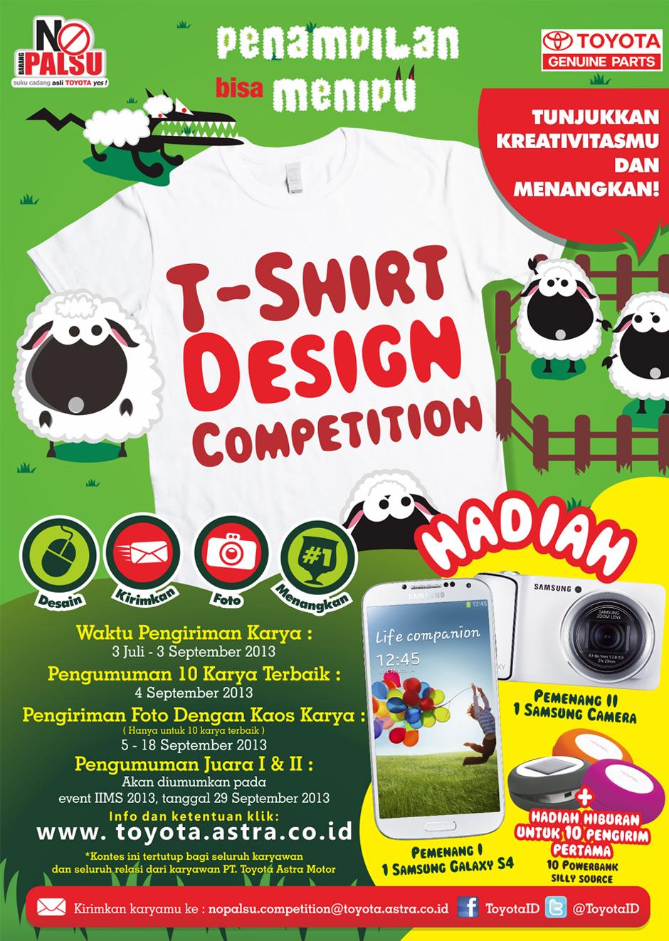 Kompetisi Design T-Shirt No Palsu